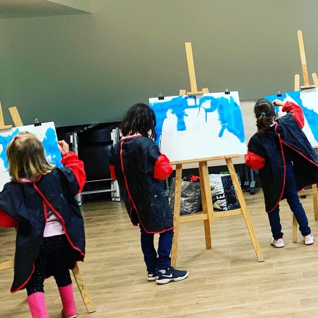peinture peindre chevalet atelier enfant